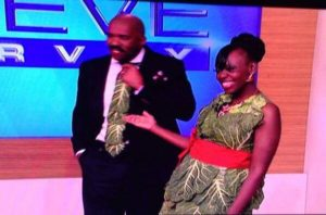 Collard Green Dress with Steve Harvey